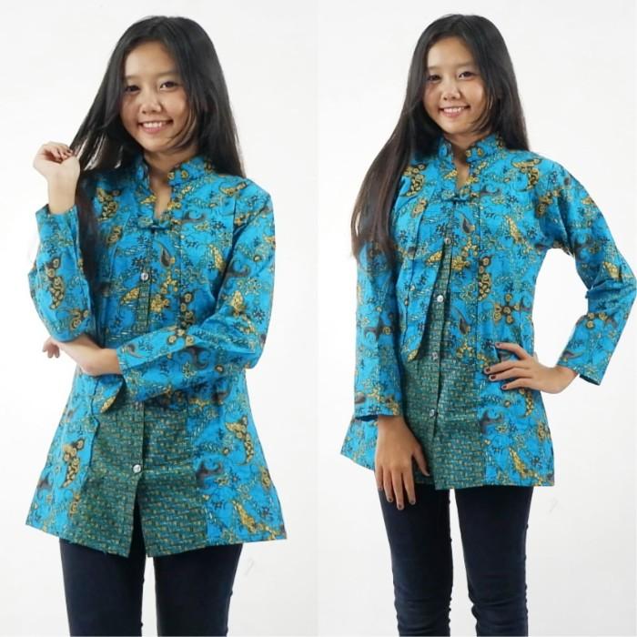 harga Blus blouse batik  wanita modern   seragam kerja murah Tokopedia.com