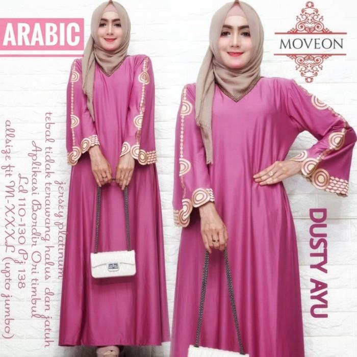 Foto Produk inez warna - baju gamis wanita muslim bahan adem bordir asli dari LZonaFashion