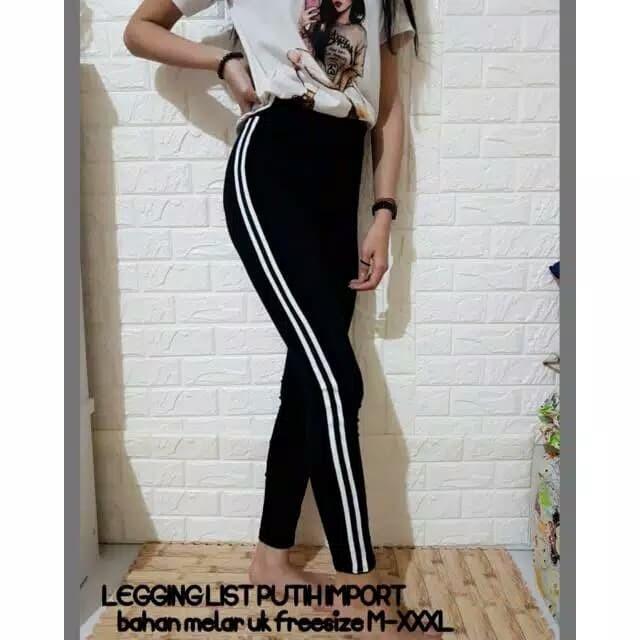 Jual Legging List Putih Sw Jakarta Pusat Calista Collection Tokopedia