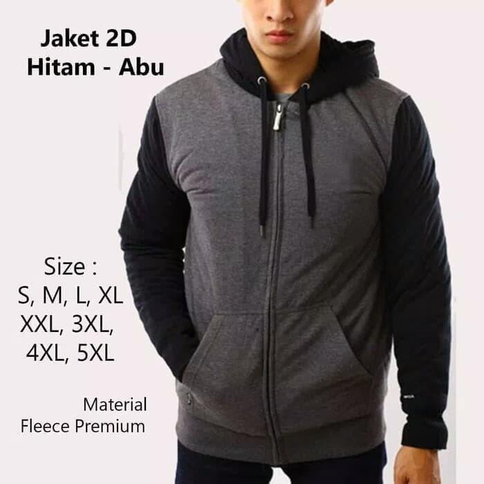 Jaket Jumbo Pria Hoodie Big Size Sweater S M L XL, XXL, XXXL, 4XL, 5XL - Polos dll, 4XL