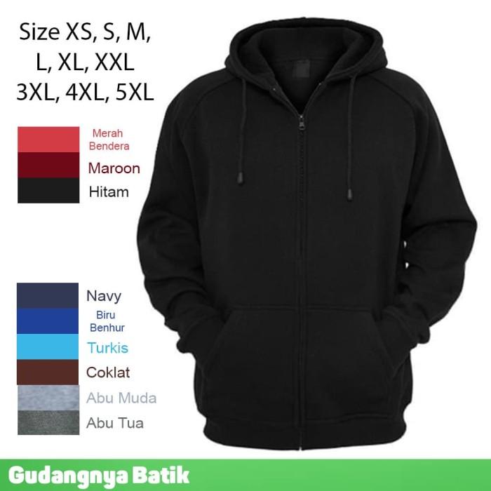 Foto Produk JAKET Polos Big Size M L XXL XXXL XXXXL XXXXXL Super Premium Fleece - Maroon, L dari Gudangnya Batik