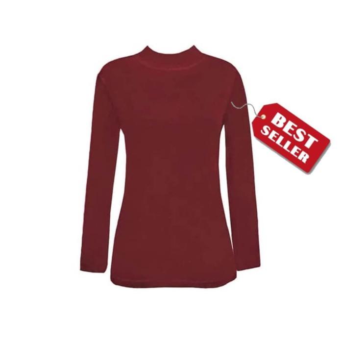 Jual Manset Baju Kaos Dalam Wanita Lengan Panjang Merah Maroon ... dd2d90b9f6
