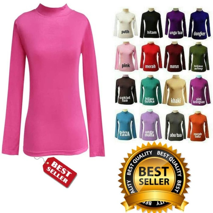 Jual Manset Baju Kaos Dalam Wanita Lengan Panjang Soft Spandek ... e45c49cf37
