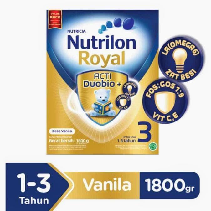 Best Seller Nutrilon Royal Pronutra 3 Vanilla Susu Formula 1800 G -