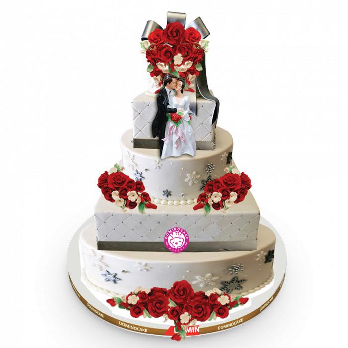 Jual Kue Pernikahan 3 Tingkat Wi 185 Kota Depok Ari S Catering Tokopedia