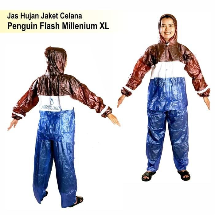 Jas Hujan Penguin Jaket Celana Flash Millenium