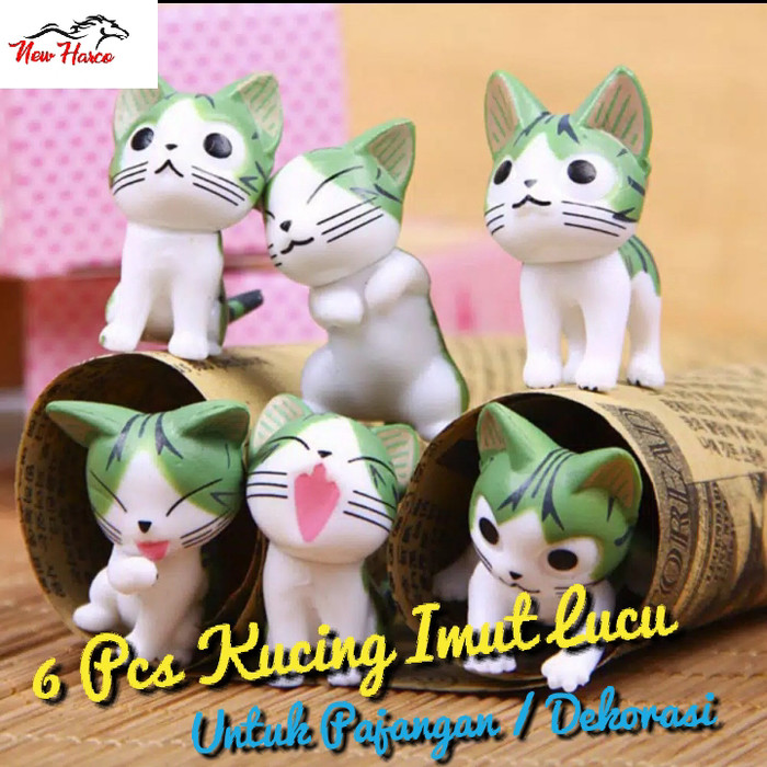 Jual 6 Pcs Kucing Lucu Dan Imut Pajangan Dekorasi Lucu Kota Surabaya New Harco Tokopedia