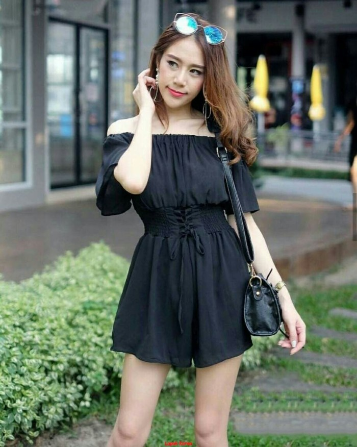 MD niniwei-Mini Dress wanita korea-Dress sabrina-Dress wanita fashion-
