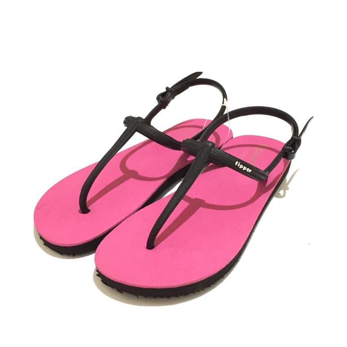 383a92947 Jual Sandal Fipper Strappy Pink Black - Kota Medan - Sandal Fipper ...