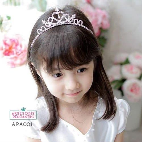Mahkota Anak Perempuan l Aksesoris Rambut Bando Mahkota Anak - APA 001