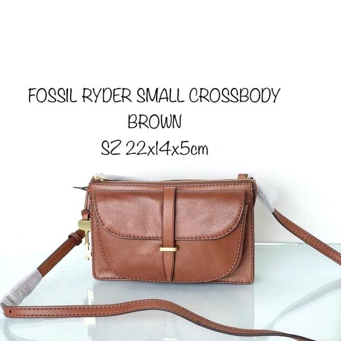 1b2093299 Jual TAS FOSSIL ORIGINAL - FOSSIL RYDER SMALL CROSSBODY BROWN mu ...