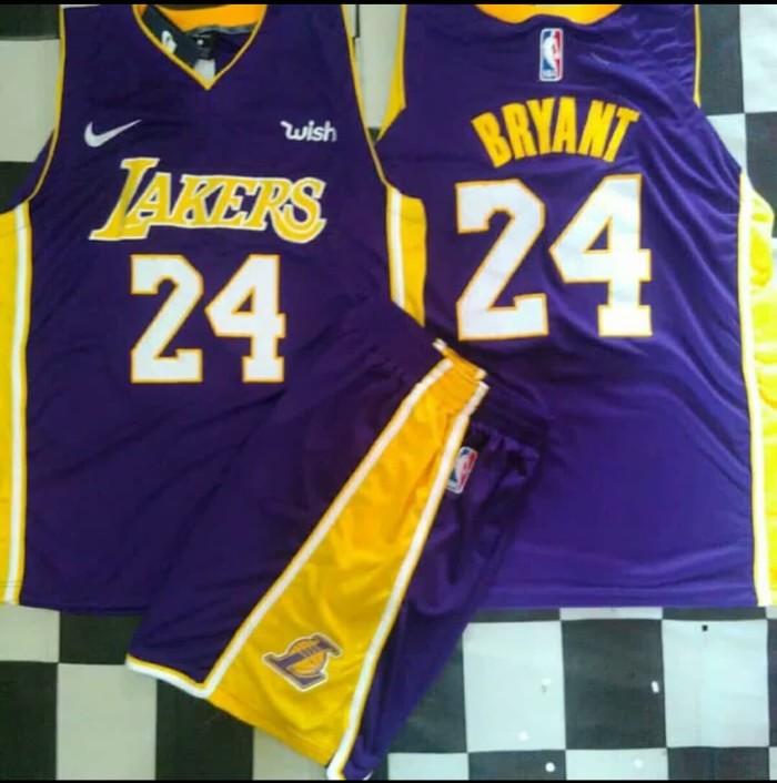 Setelan Jersey Basket NBA Swingman LA Lakers Kobe Bryant Purple Black - Bryant  Kuning 102b5fe28