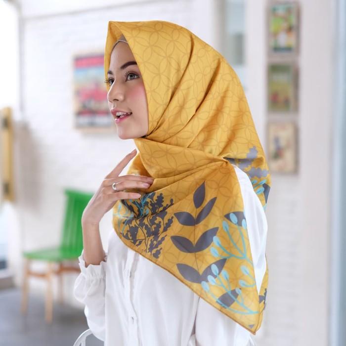 Hijab voal/satin bita printing premium segiempat