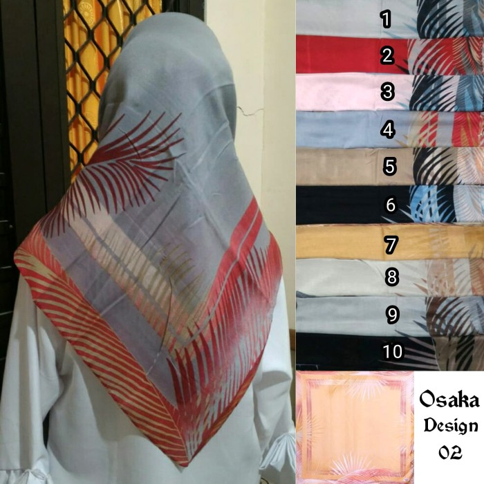 Segiempat motif bunga. jilbab umama voal. kerudung segi4 . hijab voal