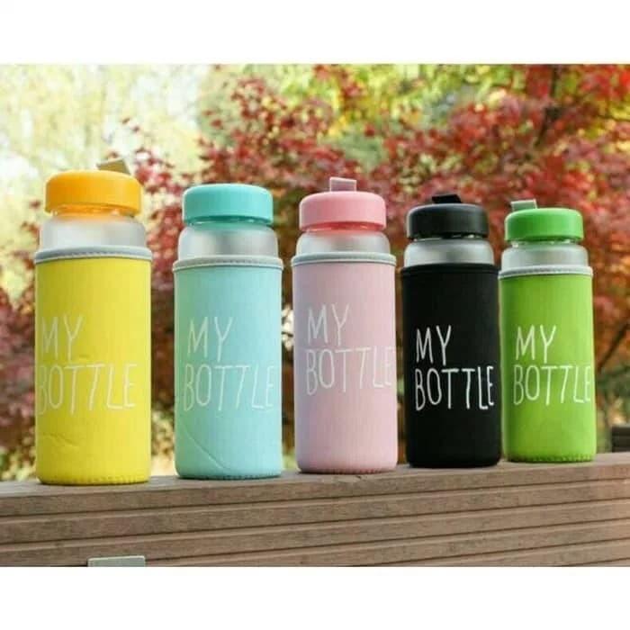 MY BOTTLE DOFF Infused Water FREE POUCH GRATIS Sarung Busa Botol - Biru Muda