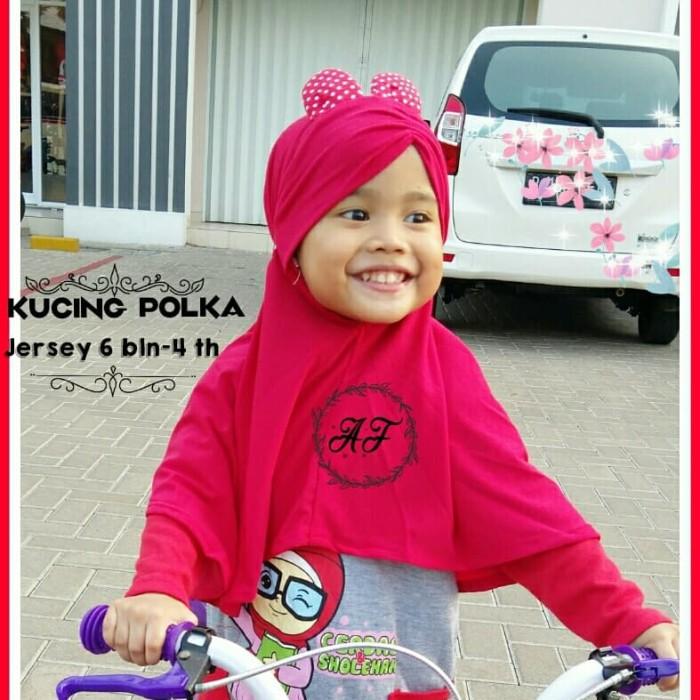 Jual Jilbab Anak Bayi Kucing Polka 6bln 4th Hijab Kerudung Bayi