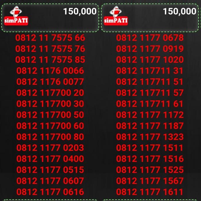 Nomor cantik kartu perdana telkomsel simpati harga 150rb
