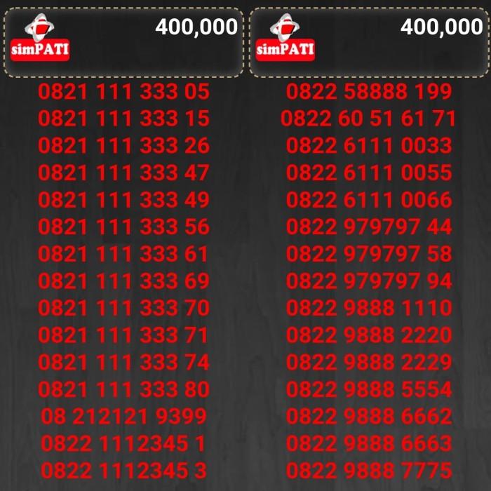 Nomor cantik kartu perdana telkomsel simpati harga 400rb