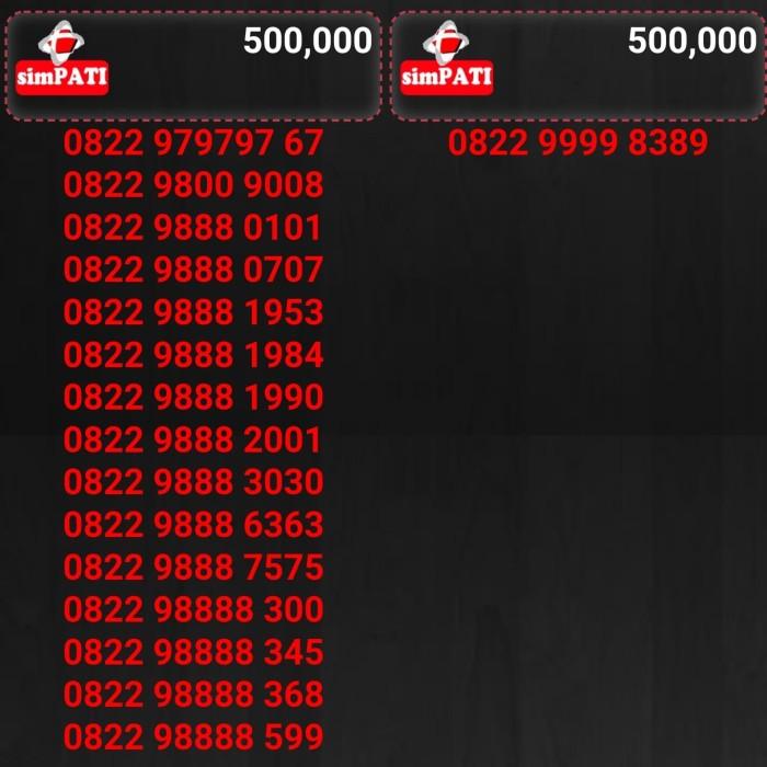 Nomor cantik kartu perdana telkomsel simpati harga 500rb