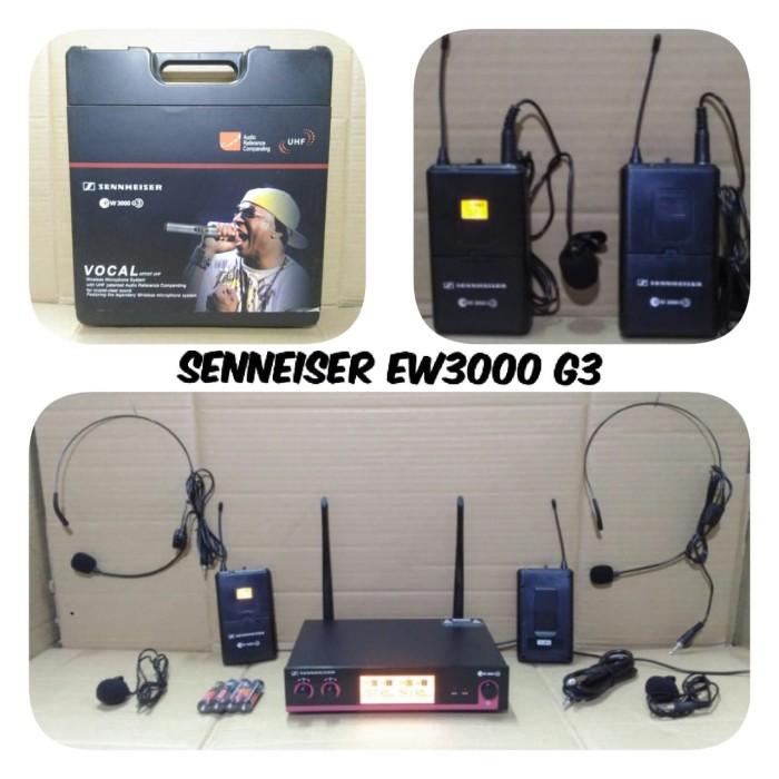 harga Mic wireless sennheiser ew 3000 g3 headset - jepit Tokopedia.com