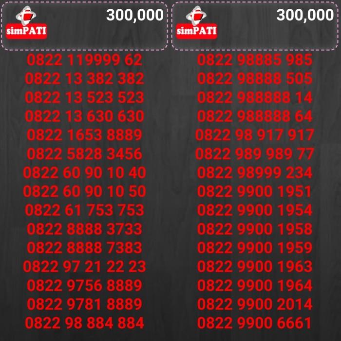 Telkomsel Simpati Nomor Cantik 0822 98888 210 Daftar Harga Source · nomorcantik telkomsel simpati TP300