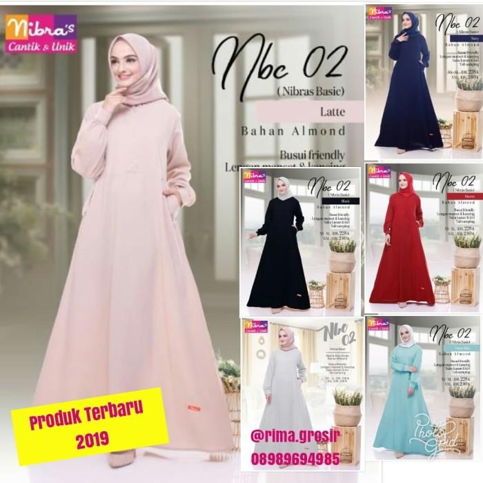 Jual Original Terbaru 2019 Gamis Nibras Nbc 02 Dress Muslimah Syari