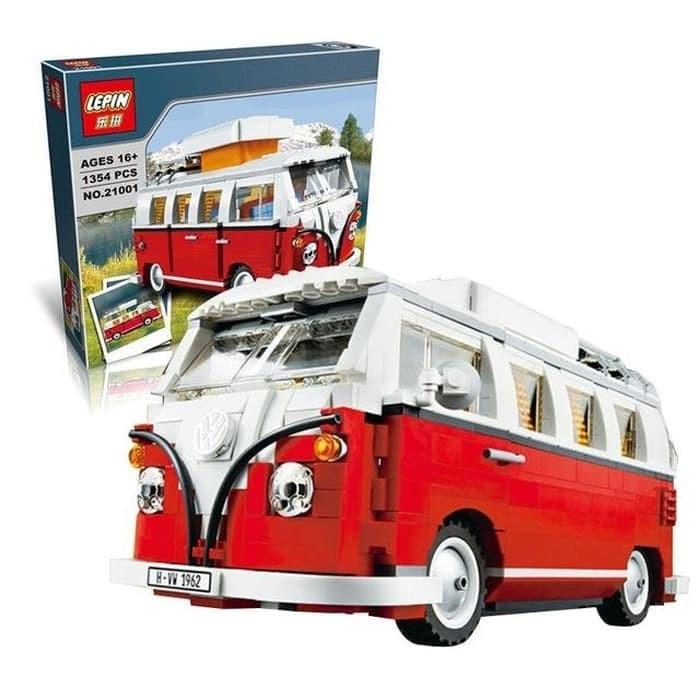 Vw Camper Van >> Jual Lepin 21001 Vw Camper Van Kota Bogor Brick Toys Store Tokopedia
