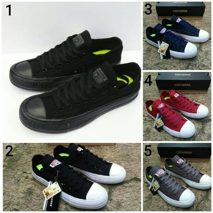 Converse CT Chuck Taylor Premium Original   Sepatu Sekolah   Couple -  Abu-abu Muda 9b51465ec7