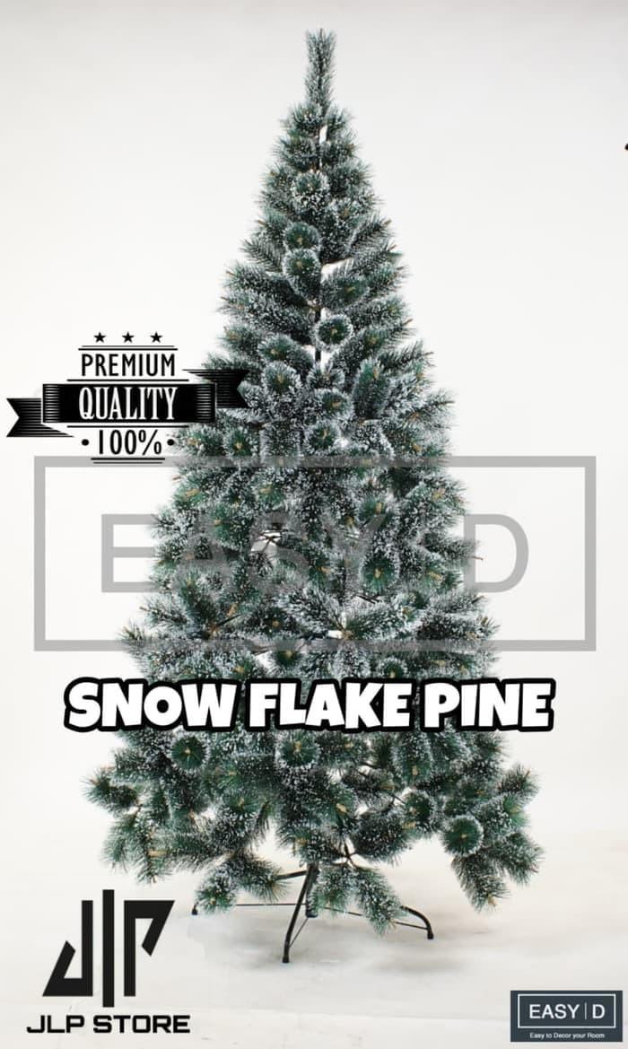 Jual Terbaru Pohon Natal Premium SNOW FLAKE PINE TREE 5 FT 150 Cm 5FT Jakarta Barat Machs Store
