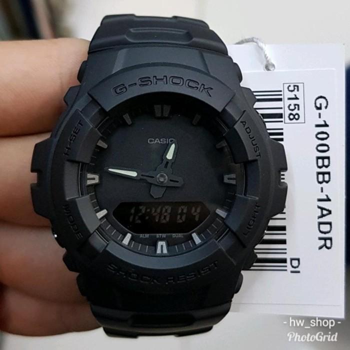 murah Jam Tangan Pria Casio G Shock G 100 BB Full Black Original