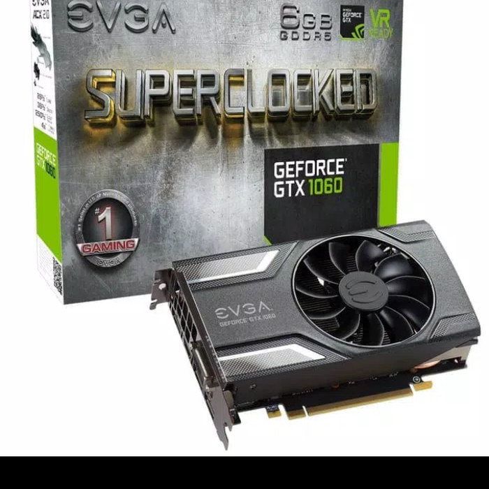 EVGA GeForce GTX 1060 SC GAMING, 06G-P4-6163-KR, 6GB GDDR5