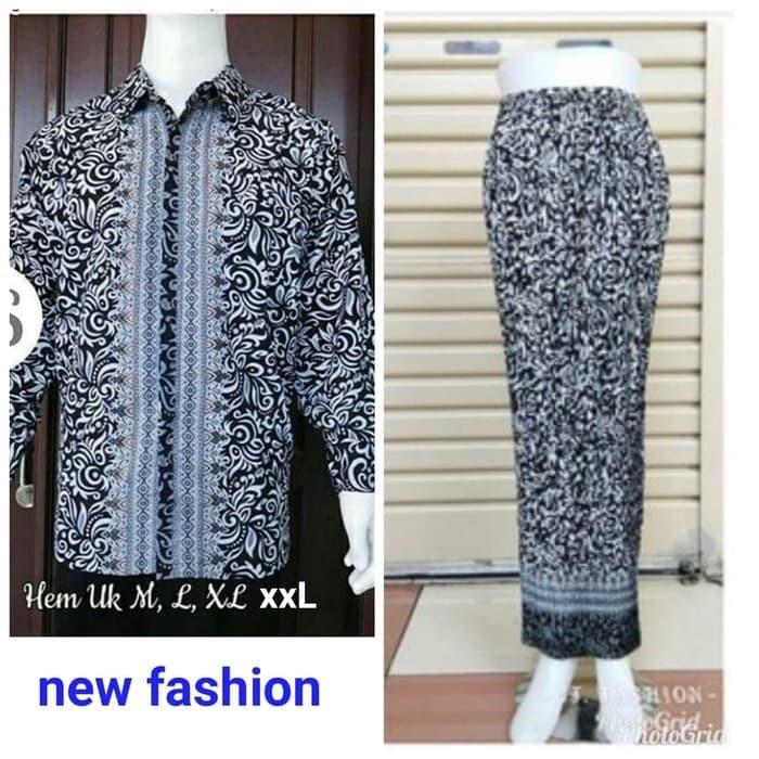 Jual couple rok plisket dan hem panjang batik kekinian - grosir ... c82ec5f550