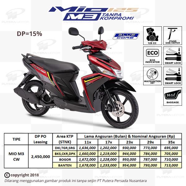 Jual Dp Uang Muka 15 Yamaha Mio M3 125 Kredit Leasing