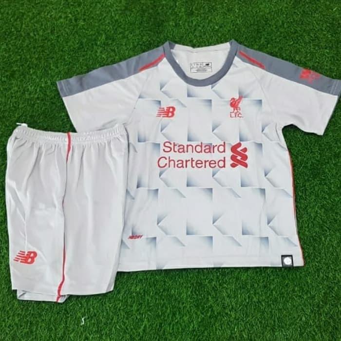 b43df00527f Jersey Kaos Baju Bola Anak Kids LFC Liverpool 3rd 2018 2019 Grade Ori