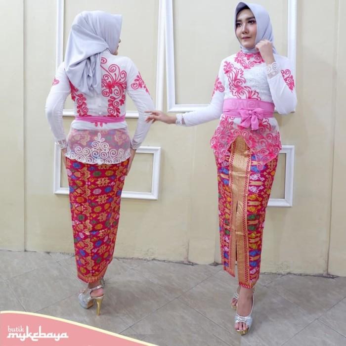 Jual Kebaya Bali Hijab Muslim Modern Biru Atasan Kota Surakarta Solokebaya Net Tokopedia