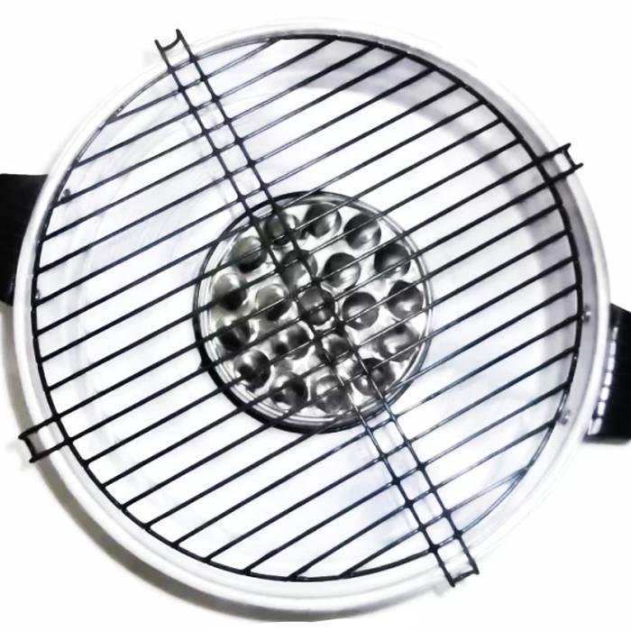Pemanggang / Panggangan Fancy Grill Maspion 33 cm Silver