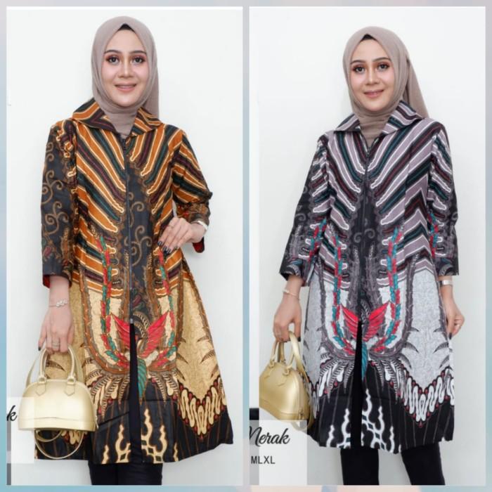 Jual Tunik Batik Solo Modern 5 Dress Grosir Baju Hijab Batik Klasik Kota Surakarta De Solo Batik Tokopedia