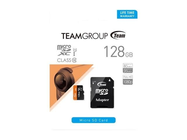 harga Micro sd team flash card for mobile uhs-1 r 80mb 128gb Tokopedia.com