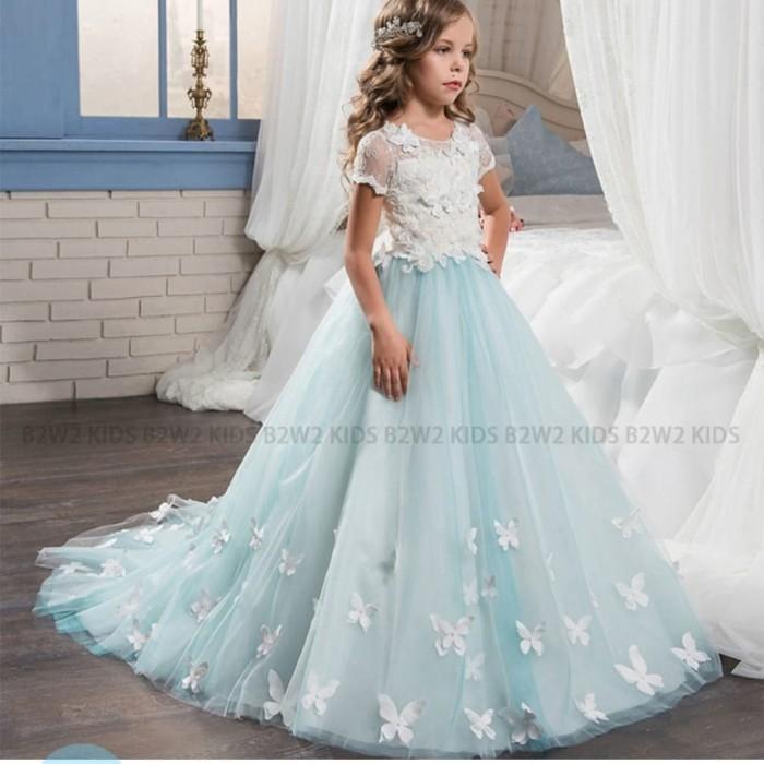 Jual Gaun Pesta Anak Perempuan Gaun Kupu Kupu Butterfly Baju
