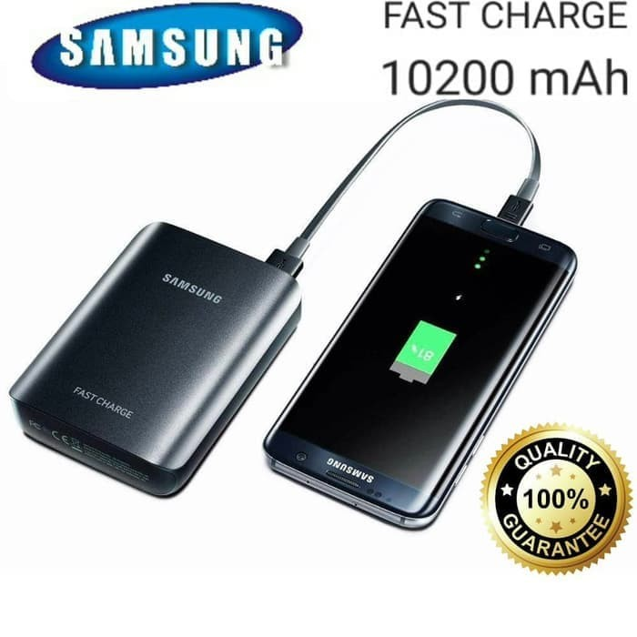 Jual PowerBank Power Bank SAMSUNG ORIGINAL 10200 mAh 10200mAh ( EB-PG935 ) - Hitam - sukarame acc | Tokopedia