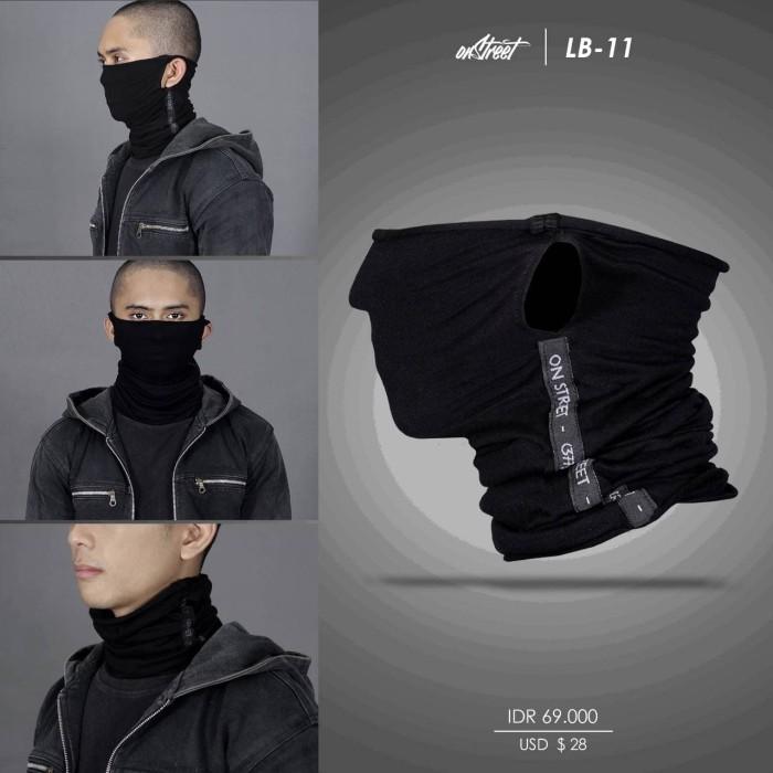 harga Longbuff on street multifunctional headwear black - aksesoris motor - Tokopedia.com