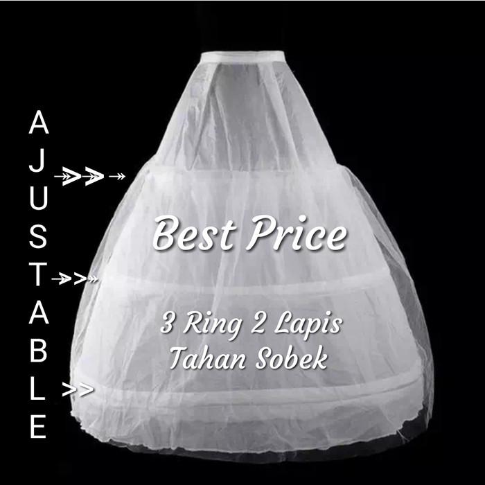 harga A878 gaun petticoat pengantin wedding rok petikot pengembang 3 r Tokopedia.com