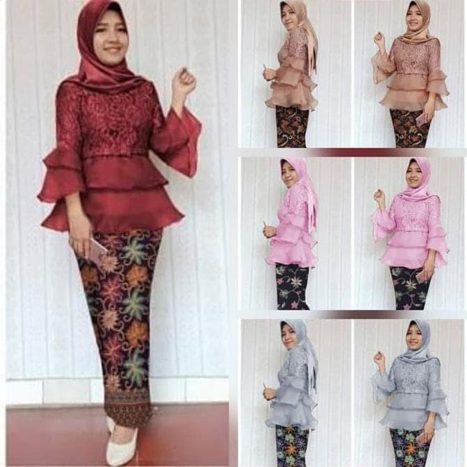 Jual Setelan Kebaya Modern Kebaya Wisuda Terbaru Baju Kondangan Kebaya Jakarta Utara Surya Ceria Tokopedia