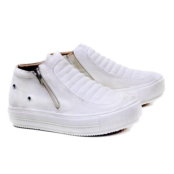 sepatu wanita boots putih elegan G3 sepatu touring pesta cewek murah