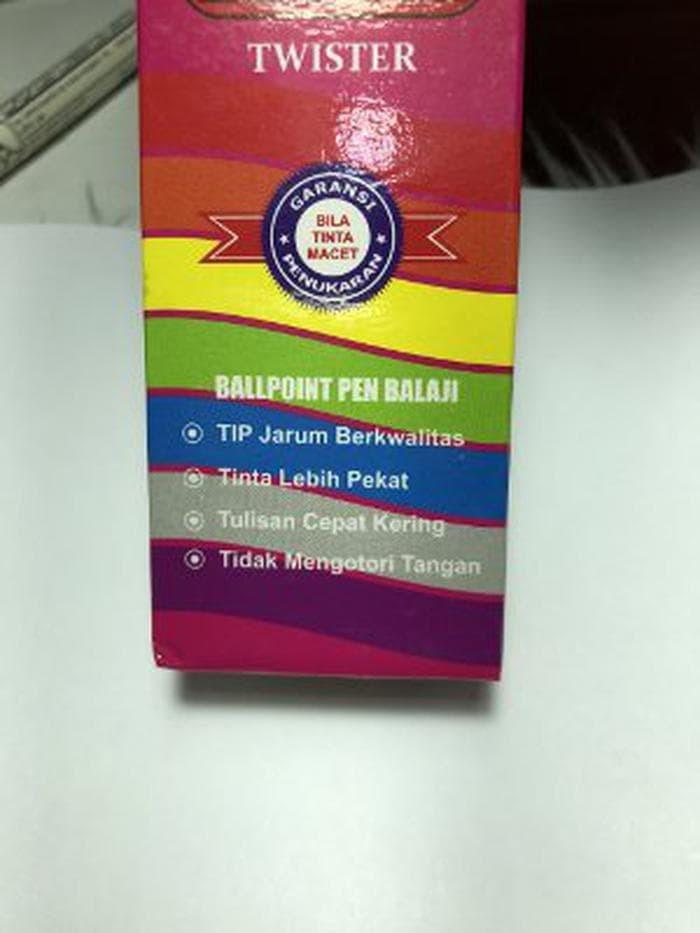 Pulpen Ballpoint Pen Balaji Twister isi 12 pcs