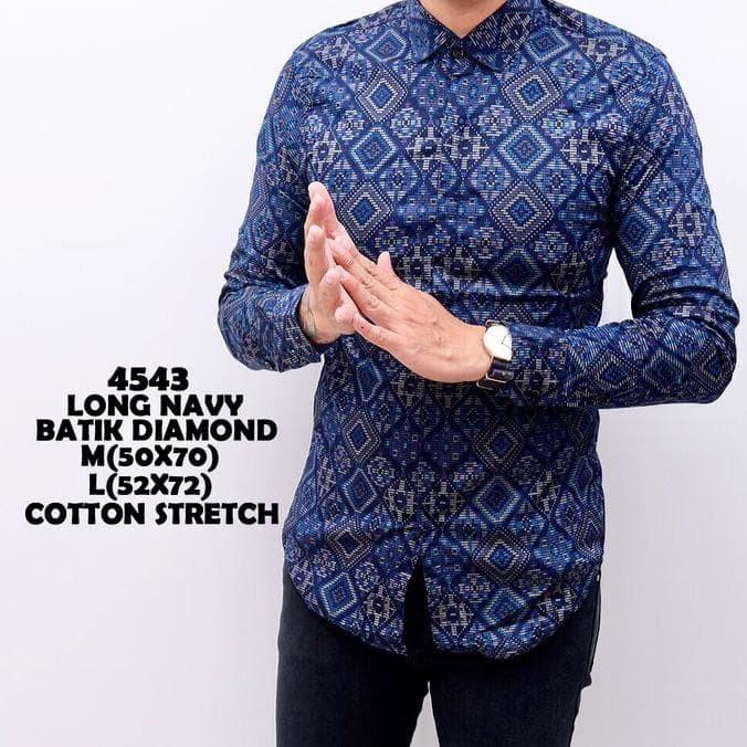 Berkualitas Kemeja Batik Pria Panjang Slimfit Katun   Baju Batik Best bf1f0e83b4