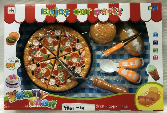 Jual Mainan Pizza Burger Funny Food Cutting Jakarta Utara Berkah Toys Tokopedia