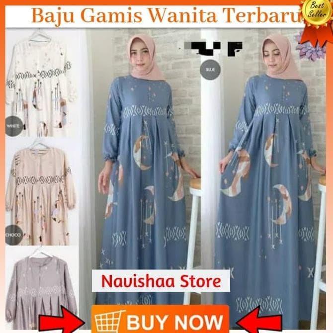 Jual Baju Busana Muslim Wanita Gamis Syari Pesta Rembulan Terbaru ... 81ea3b4e1e