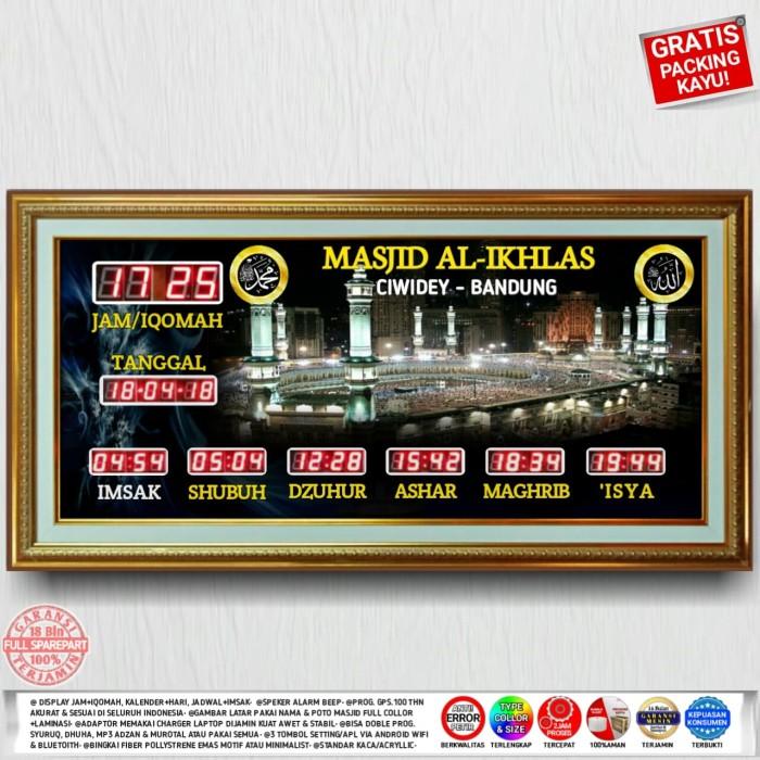 Jual Jam Sholat Masjid Jadwal Alarm Adzan Iqomah Kota Bandung