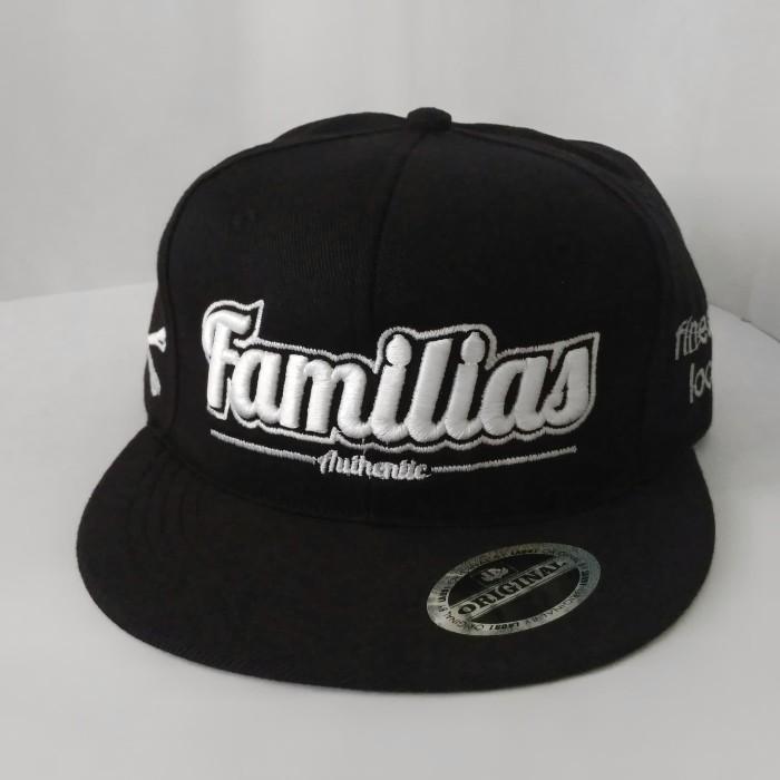 Jual Topi Distro Snapback Kanvas Familias Topi Bordir 3D Topi Hiphop ... f71d301a4b